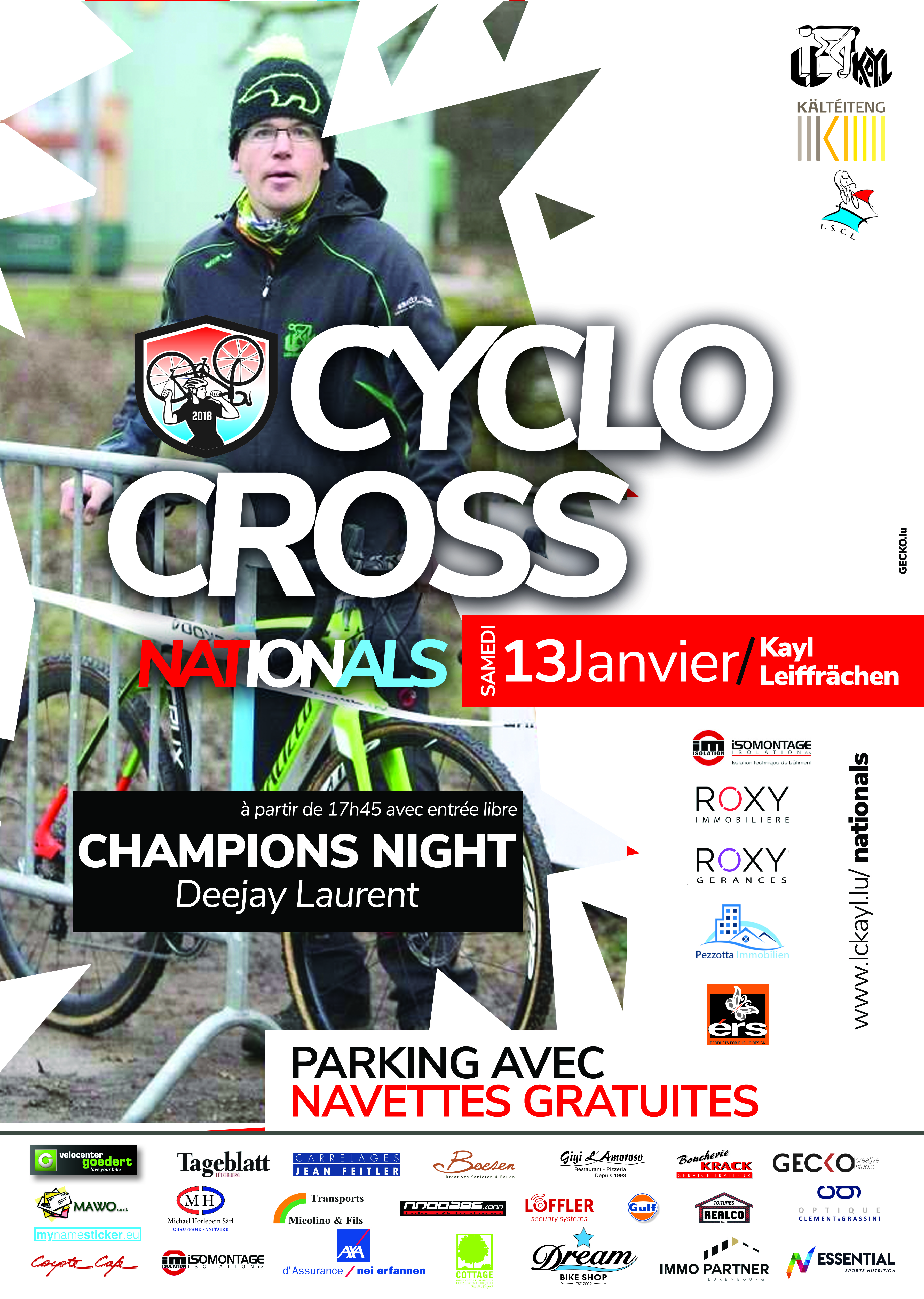 Championnats Nationaux Cyclo Cross le samedi 13 janvier 2018 à Kayl