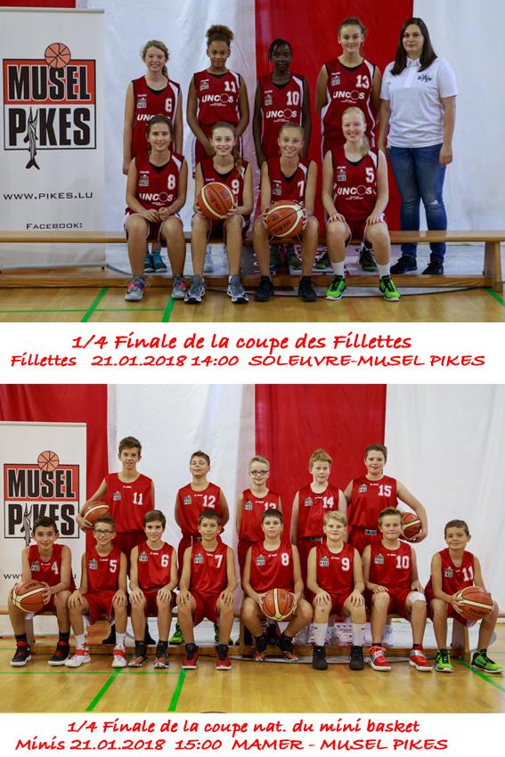 1/4 Finales Coupe: Fillettes + Minis