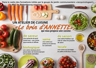 04.02, 04.03 , 17.03 - Atelier de cuisine