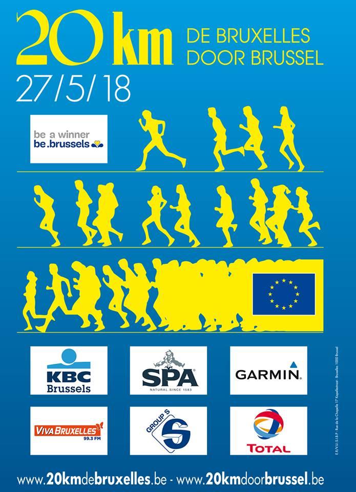39ème édition des 20 Km de Bruxelles – le 27 mai 2018