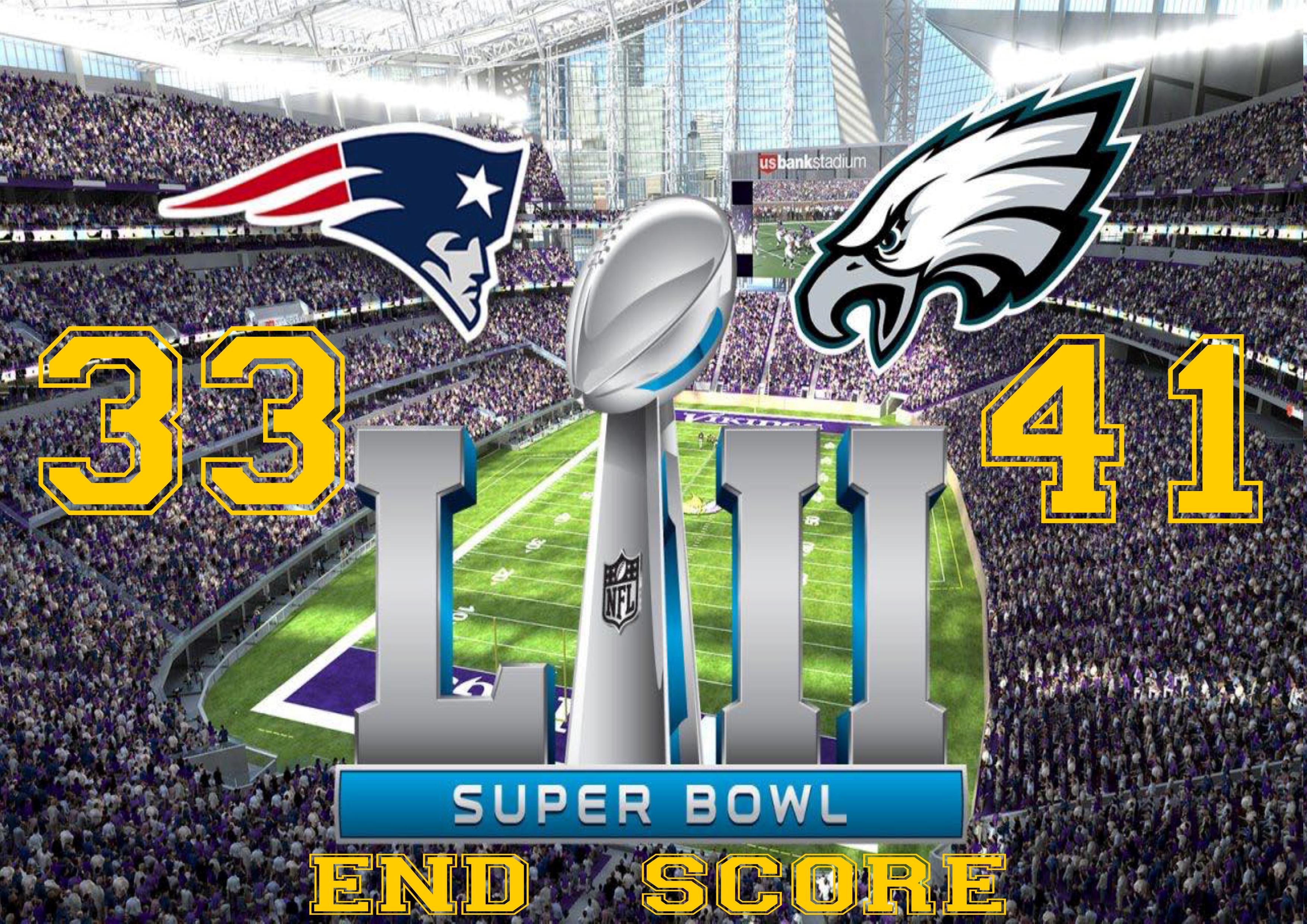 Superbowl 2018  End Score