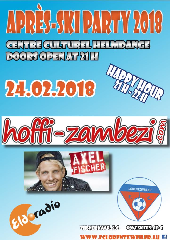 APRES-SKI PARTY 2018 mam Hoffi-Zambezi an Axel FISCHER