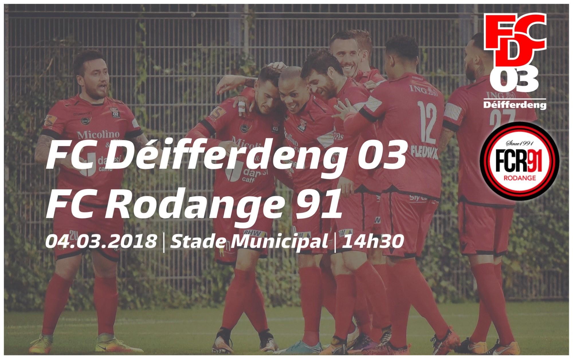 Repas d'avant match FCD03 - FC Rodange