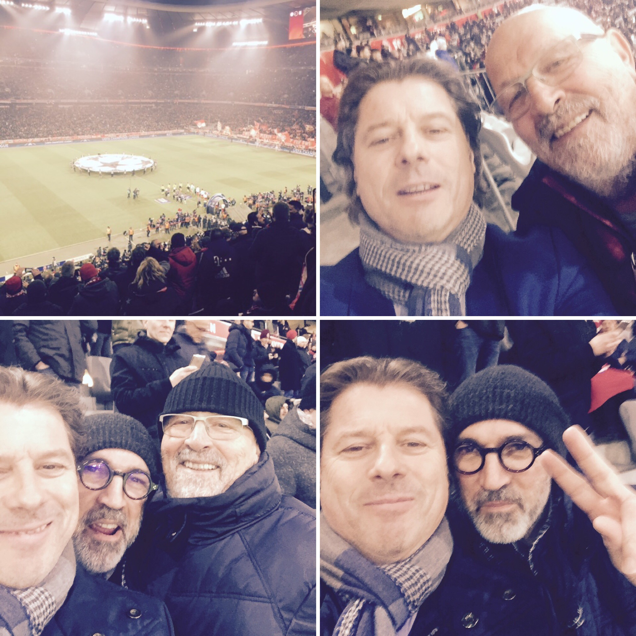 Le président avec des sponsors à Munich