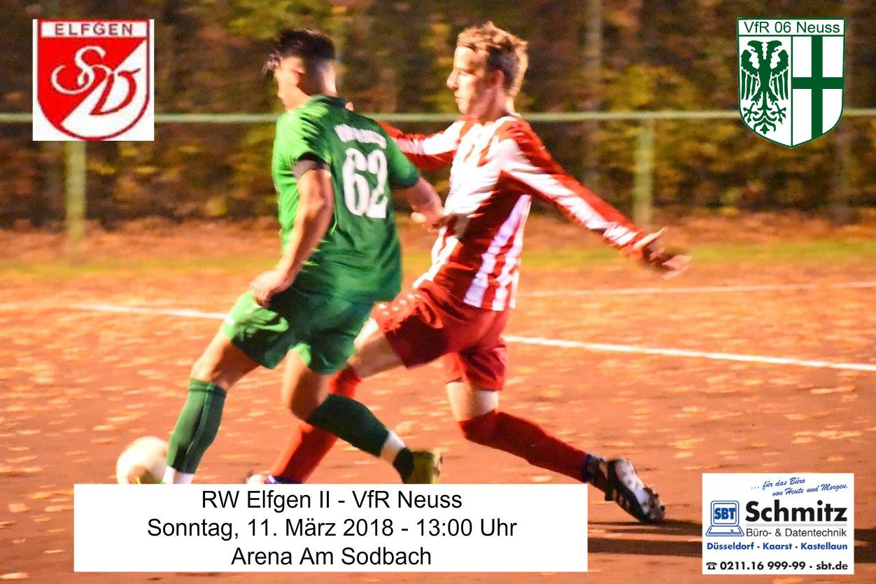 VfR Neuss tritt am Sonntag in Elfgen an.