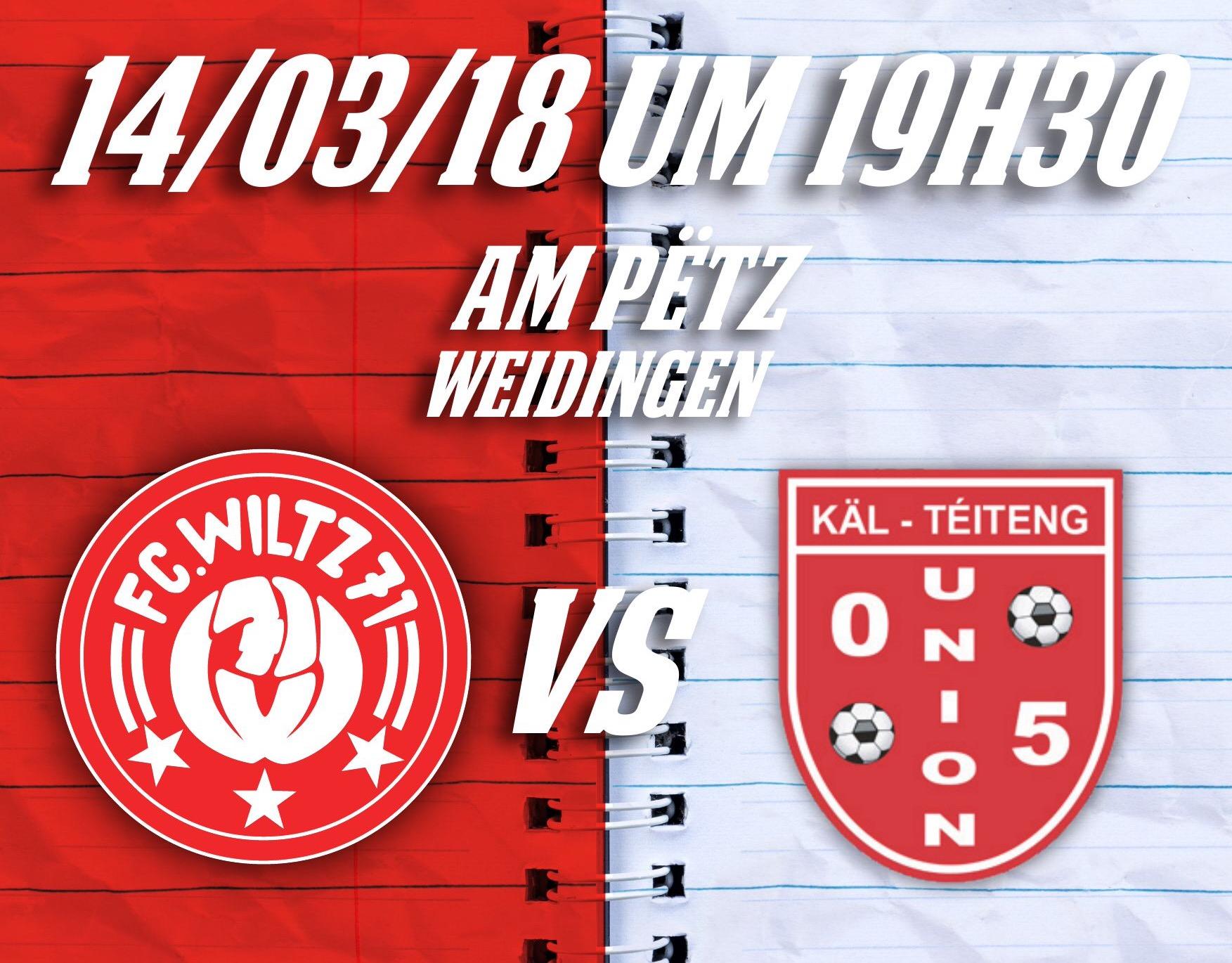 FC Wooltz 71  vs  Union 05 Käl-Téiteng
