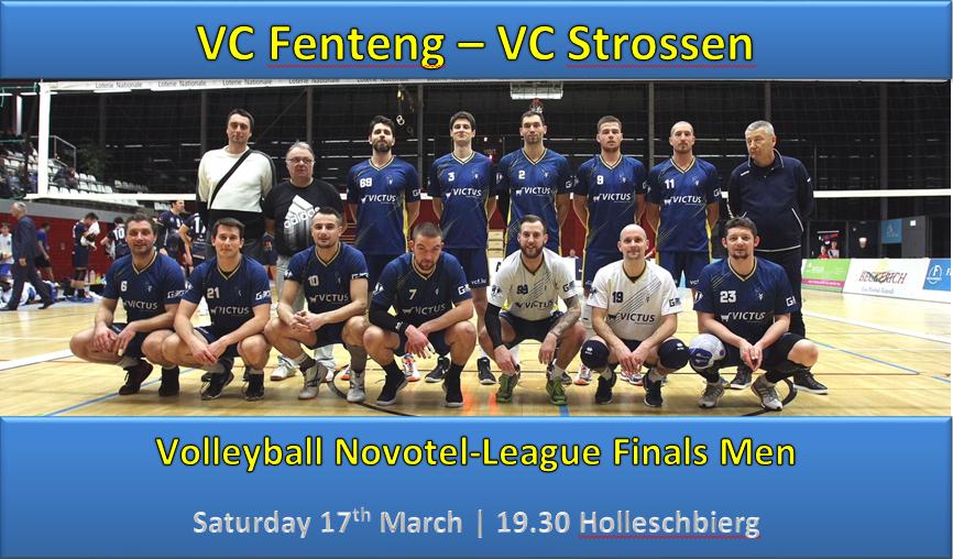 Volleyball NLH Finals 1: VC Fenteng - VC Strossen 17th March 19:30 Holleschbierg