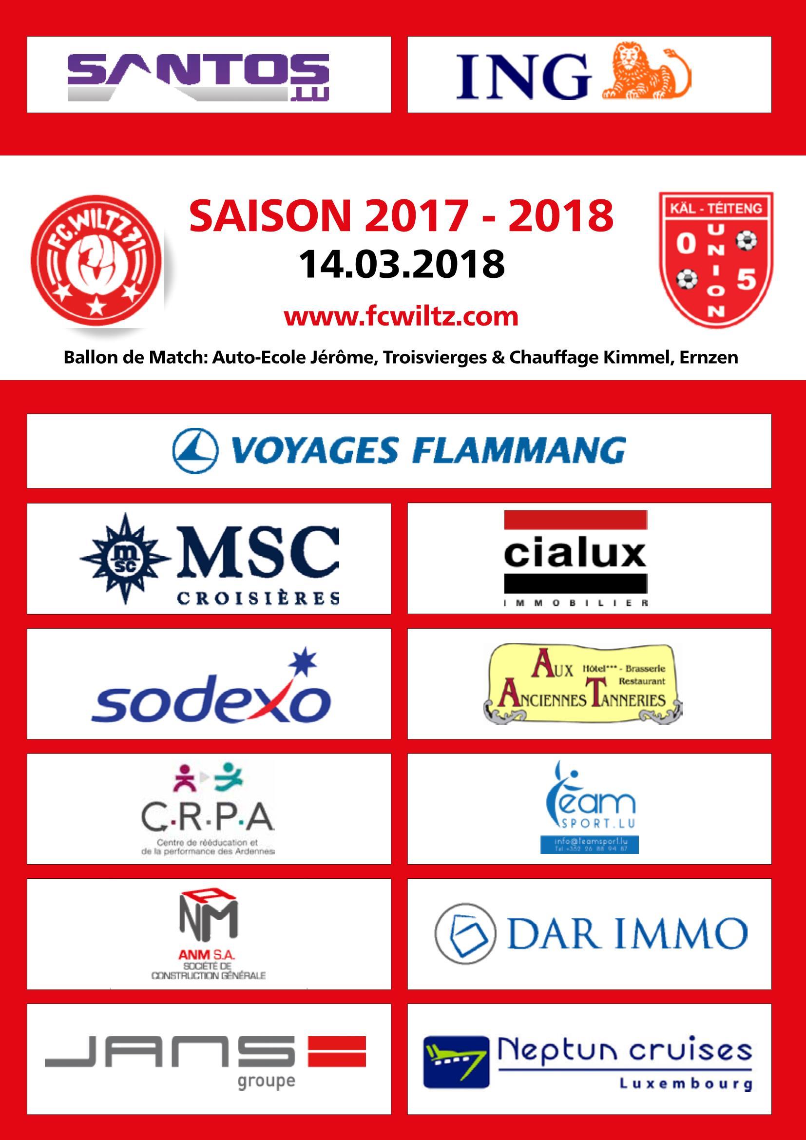 JOURNAL OFFICIEL - FC Wooltz 71  vs  Union 05 Käl-Téiteng