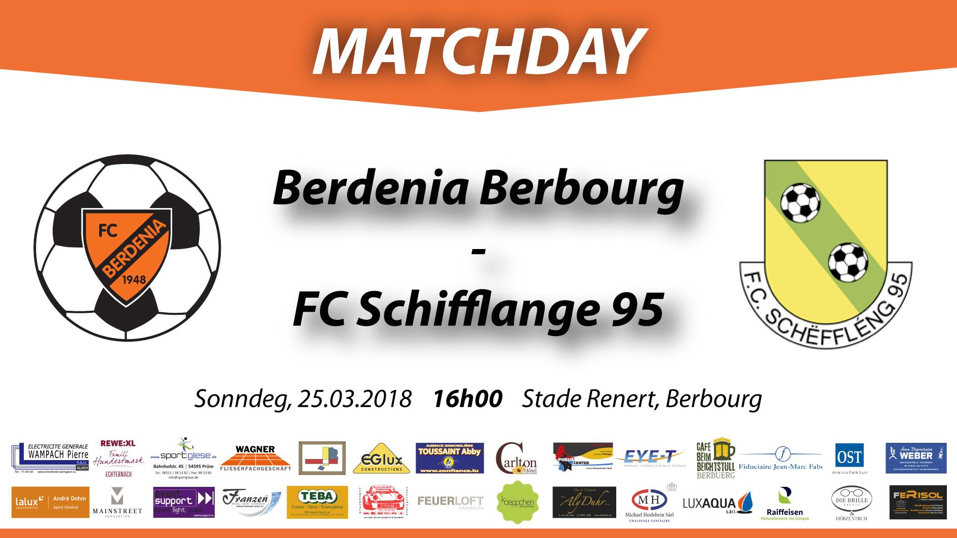 MATCHDAY: FC Berdenia Berbourg - FC Schifflange 95