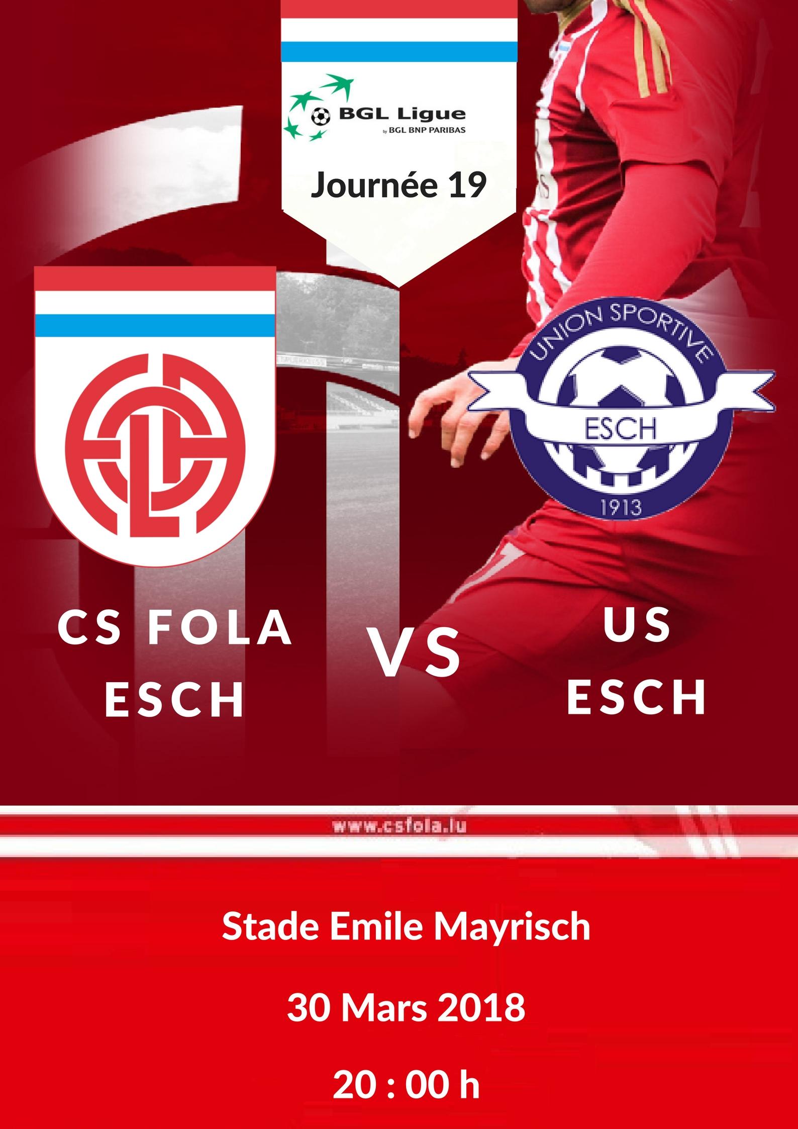 Cs Fola vs US Esch