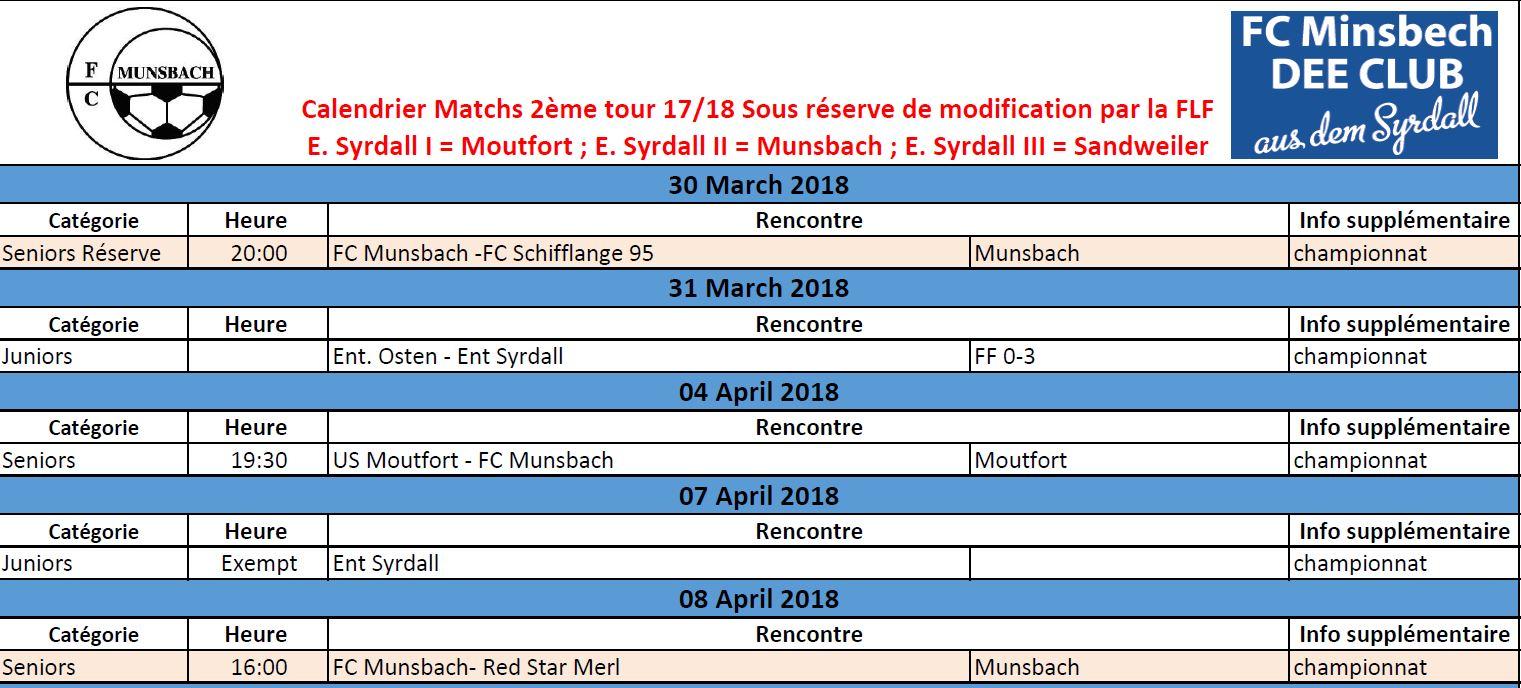 Match 30/03 - 08-04