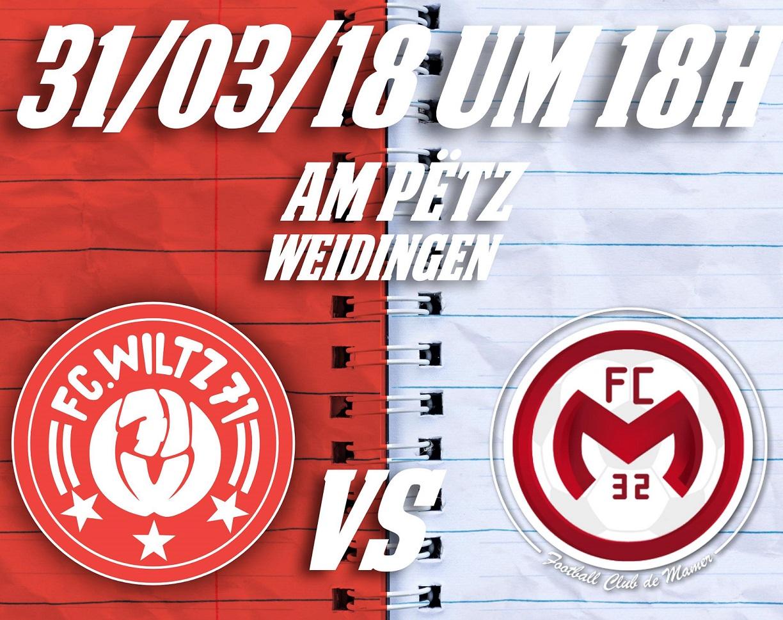 FC Wooltz 71  vs FC Mamer 32