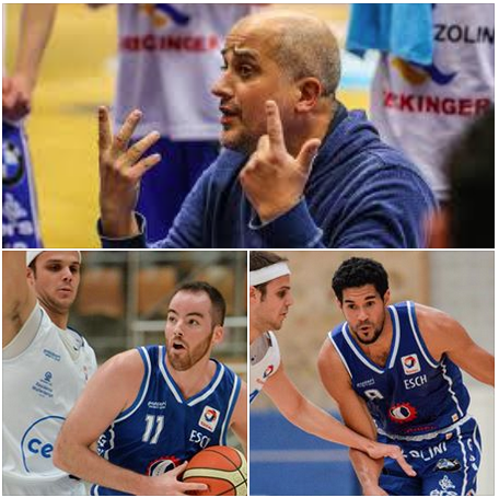Coach and professional players stay in Esch