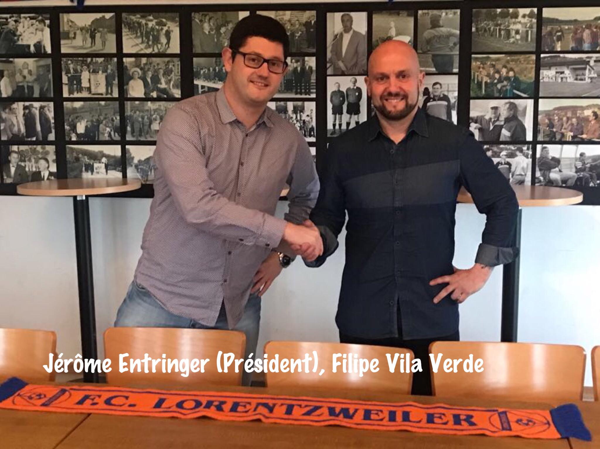 Nouveau Entraîneur Saison 2018/2019 - Filipe VILA VERDE (Seniors I)