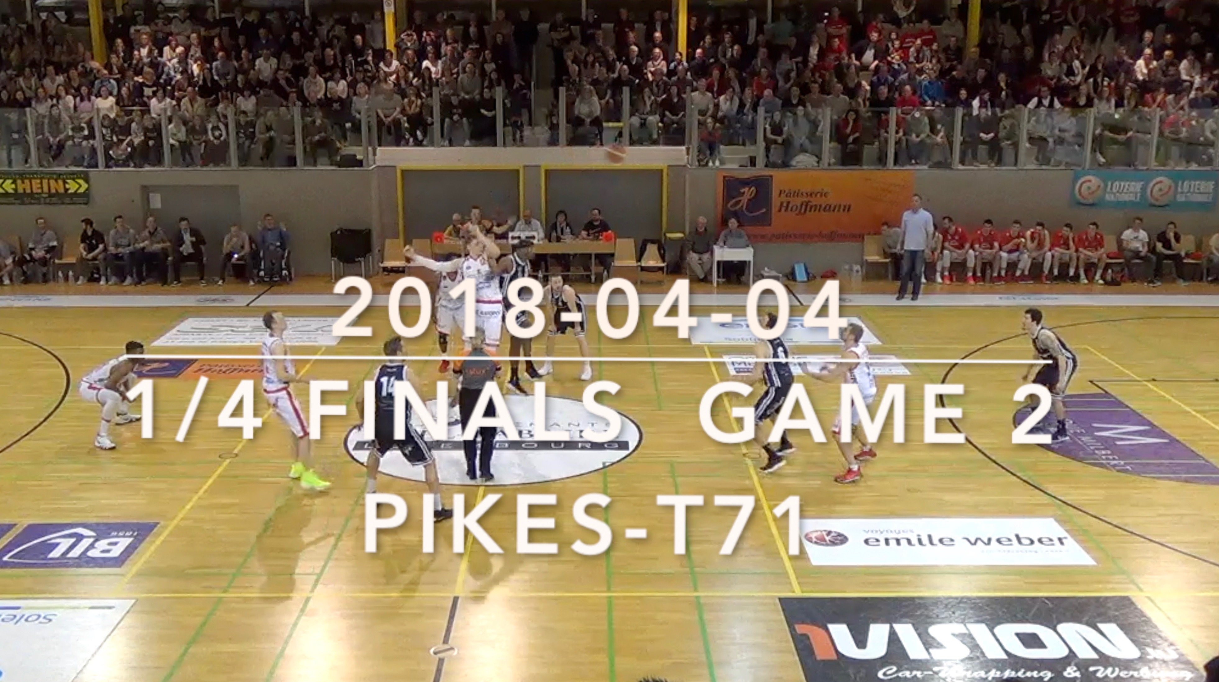 2018-04-04 game 2  1/4 finals Pikes-T71 (Pikes highlights)