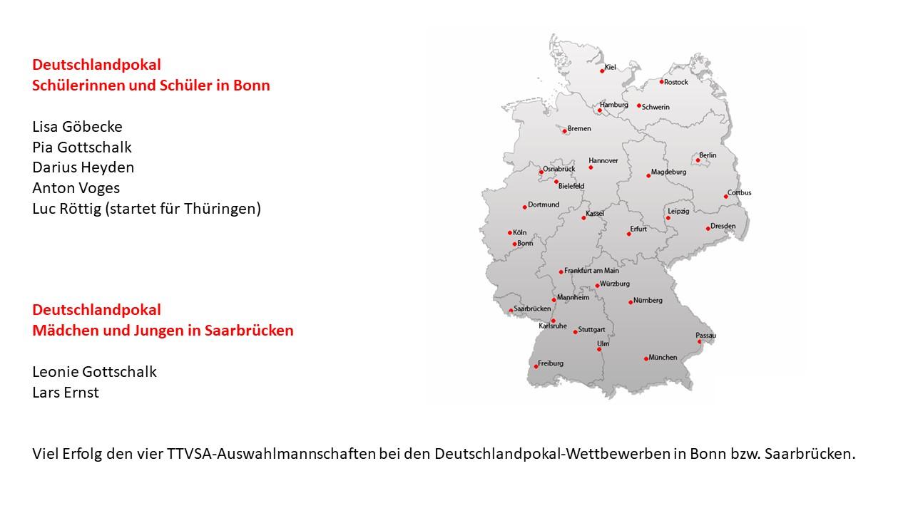 Deutschlandpokal mit Biederitzer Beteiligung