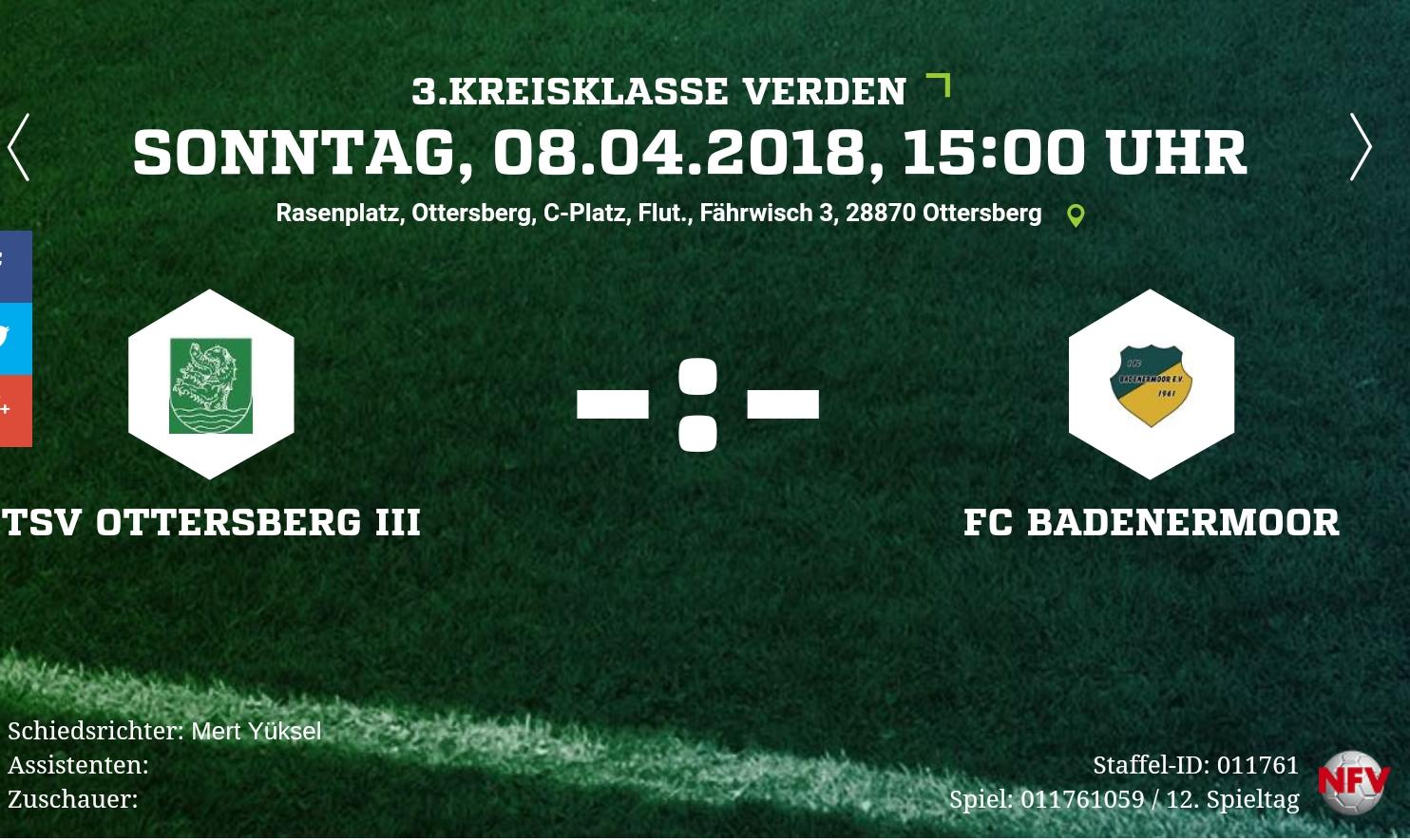 Auswärtsspiel  in Ottersberg