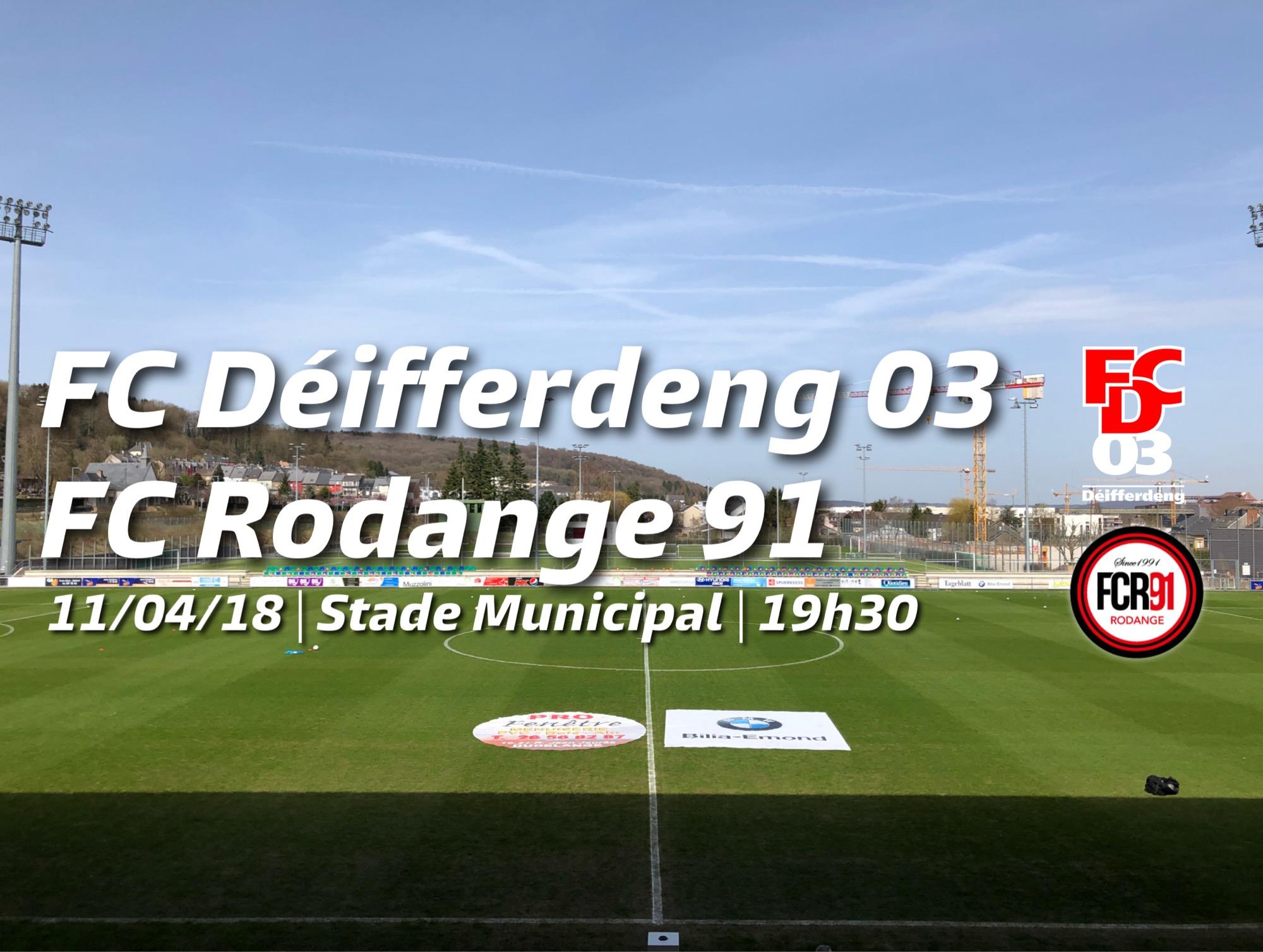 FC Déifferdeng 03 - FC Rodange 91