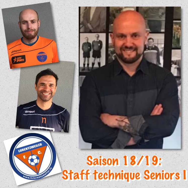 Staff technique complet - Seniors I & II (Saison 2018/2019)