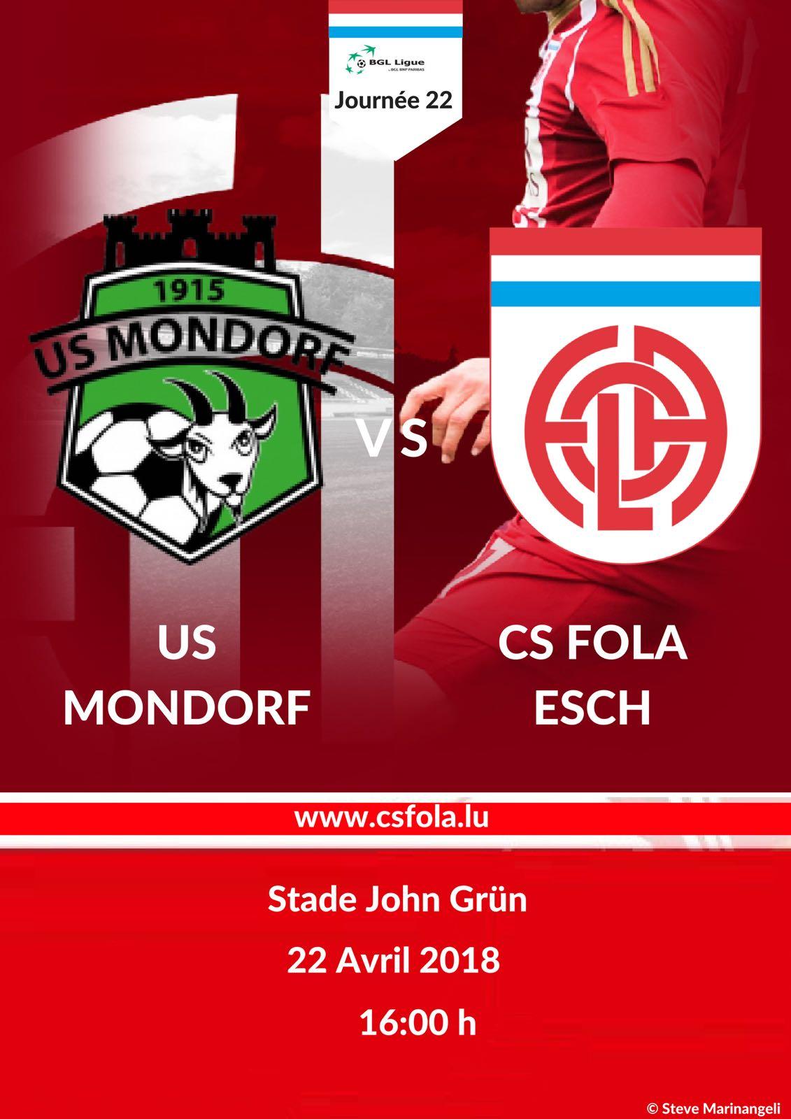 US Mondorf vs CS FOLA