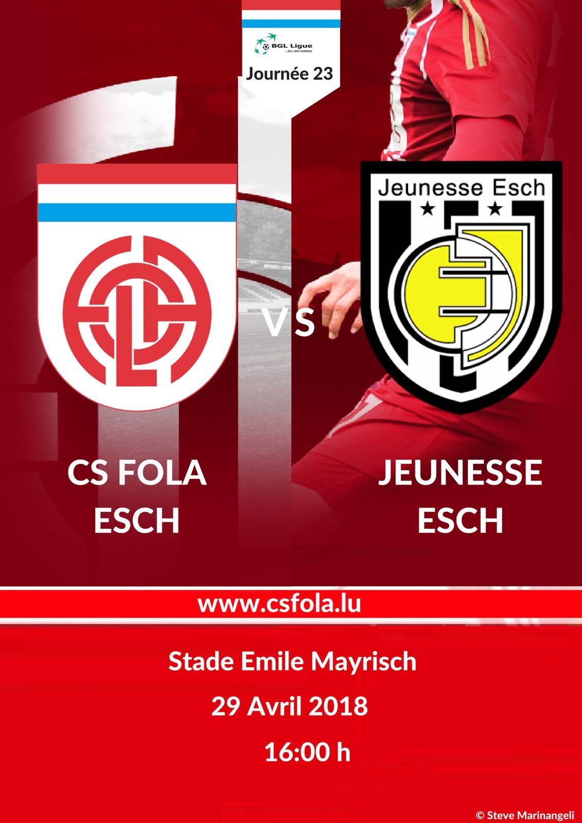 CS FOLA vs Jeunesse Esch