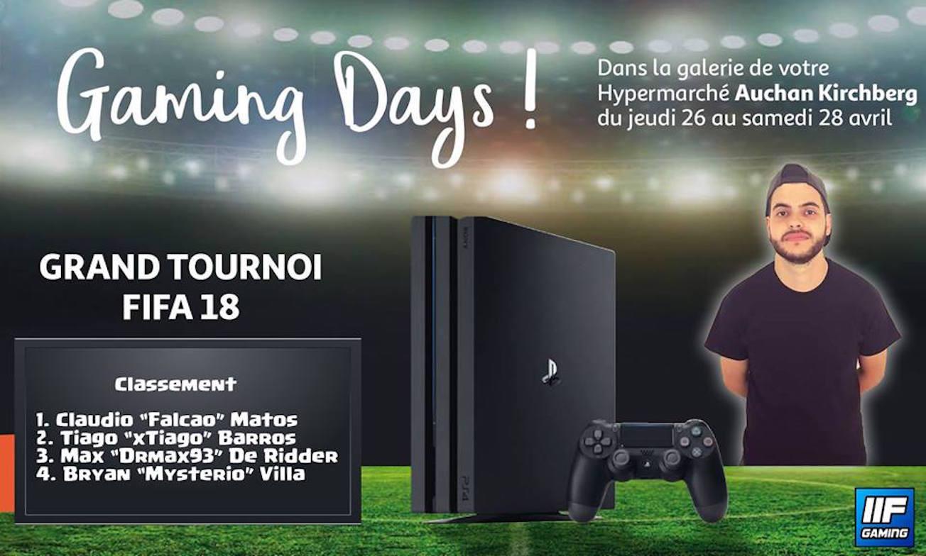 Auchan Gaming Days - Fifa18 Tournoi