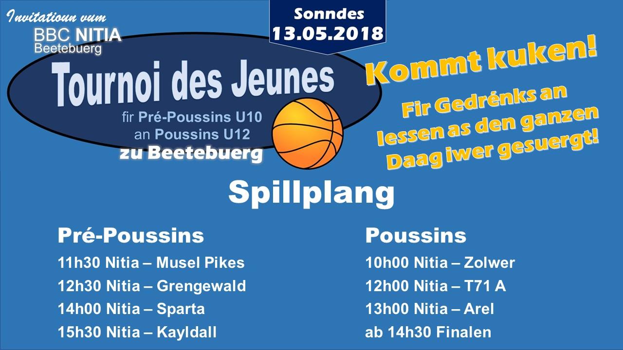 13. Mai: Tournoi des Jeunes zu Beetebuerg
