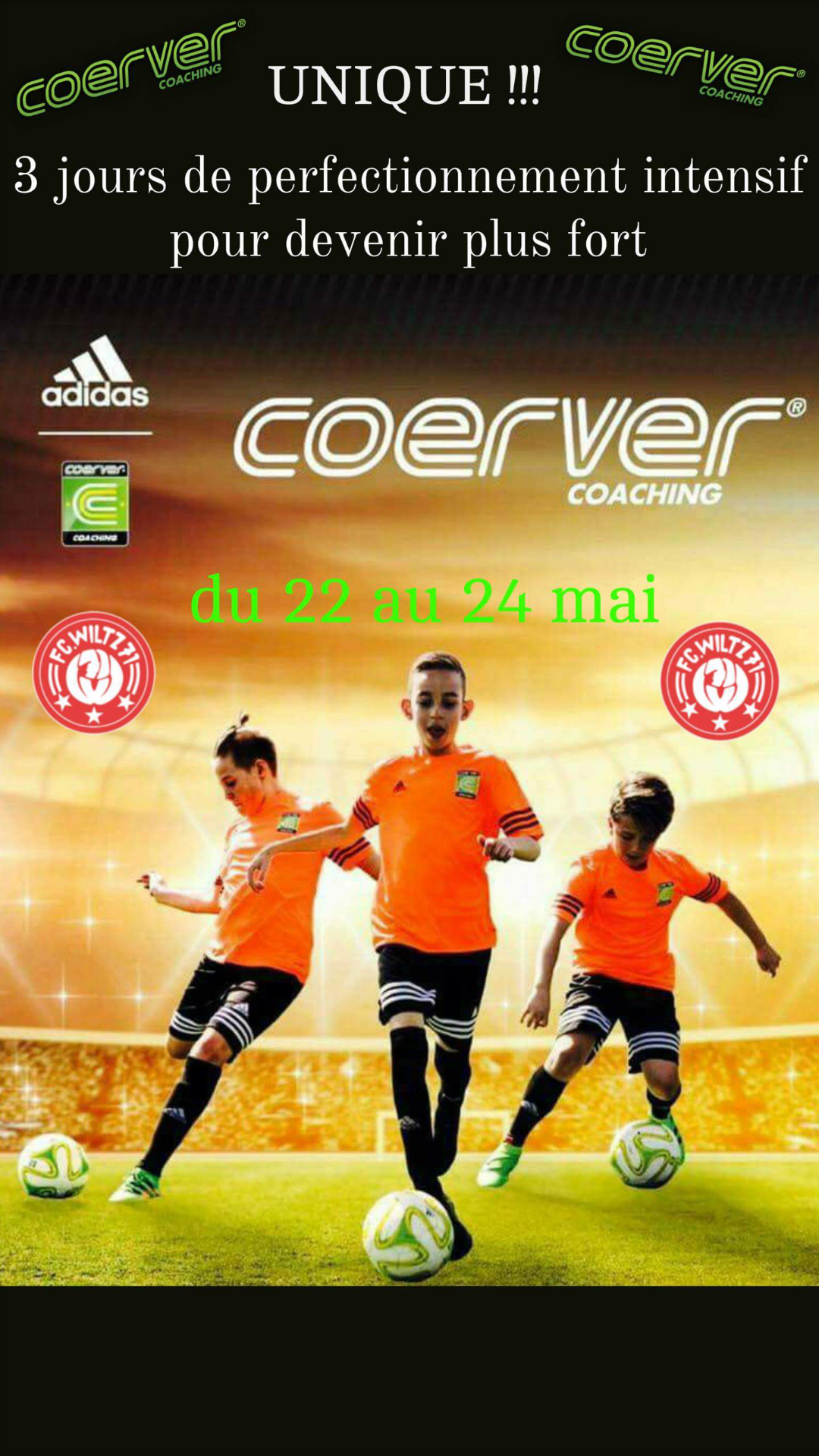 Stage Coerver COACHING