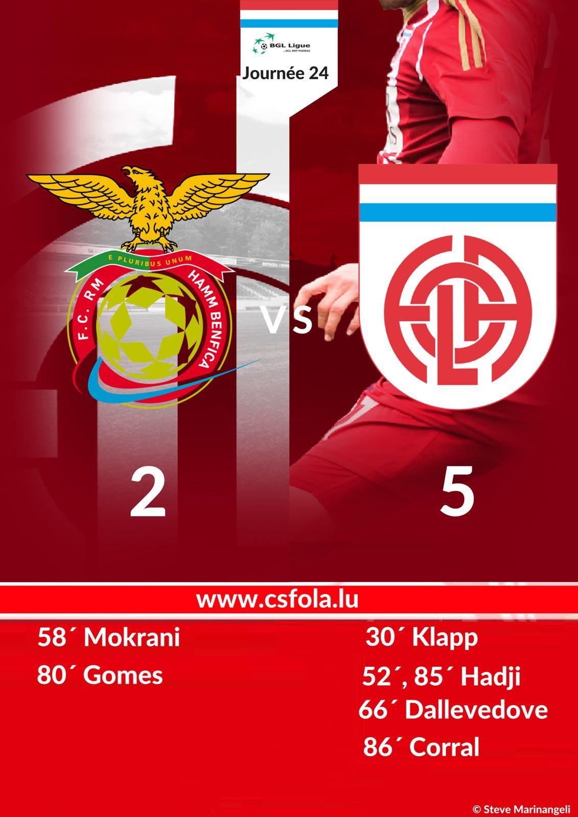 HAMM Benfica - CS FOLA