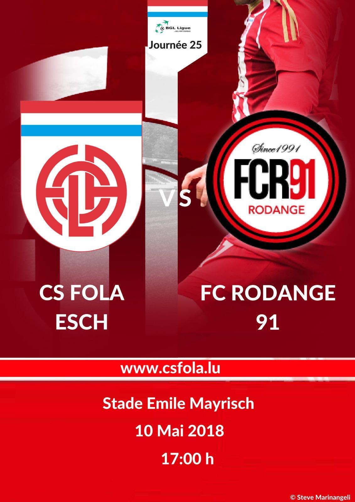 CS FOLA vs FC RODANGE