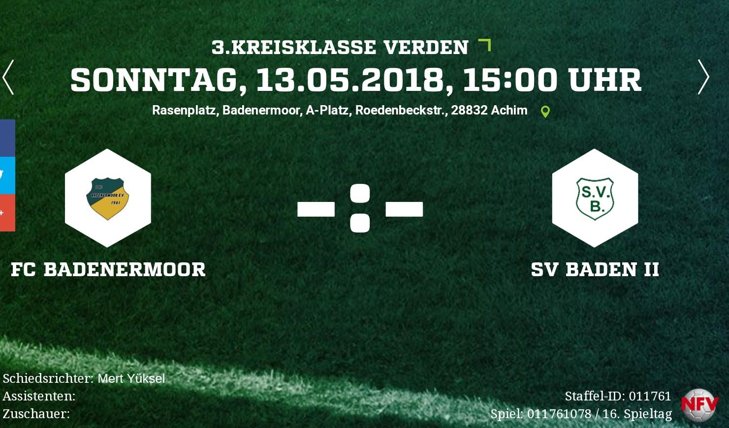 Vorletztes Heimspiel der Saison gegen Baden + Rückblick