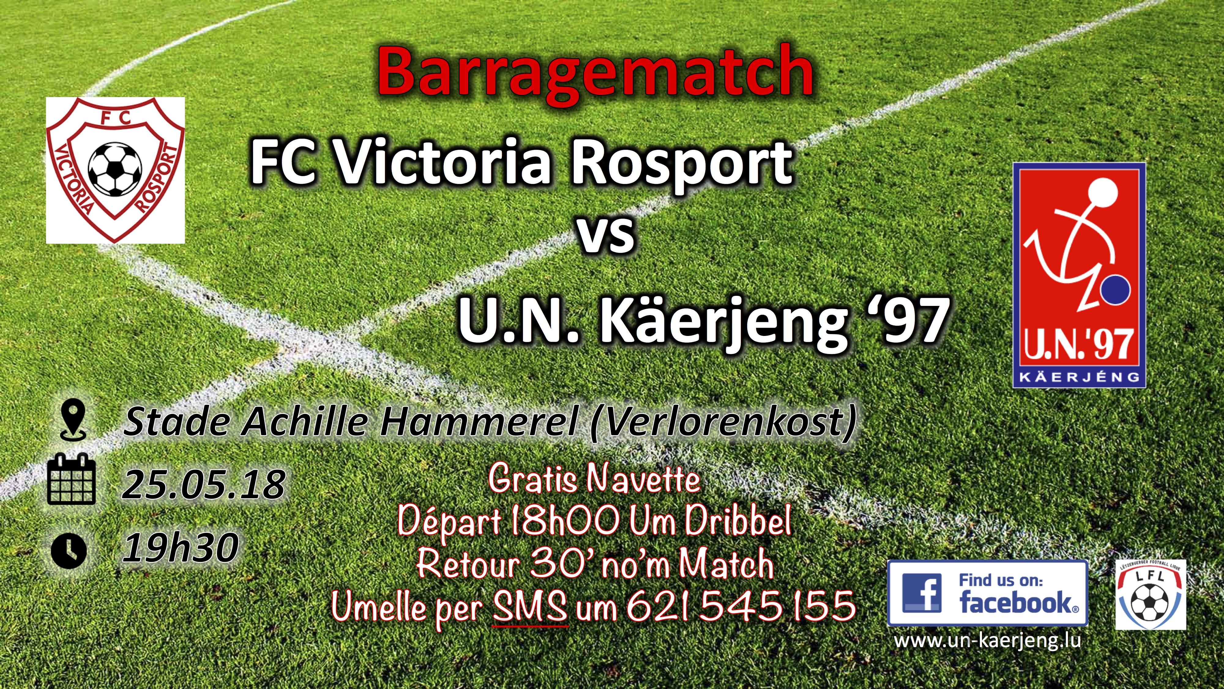Barragematch Rosport - UNK