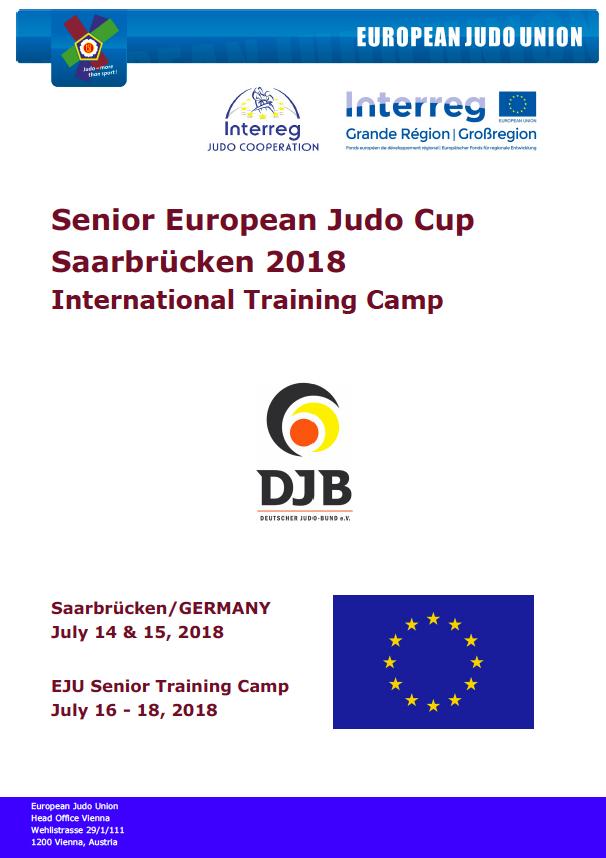 SENIOR EUROPEAN JUDO CUP SAARBRÜCKEN 2018