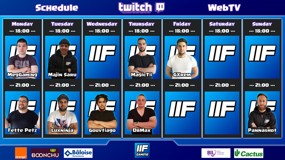Twitch WebTV Schedule
