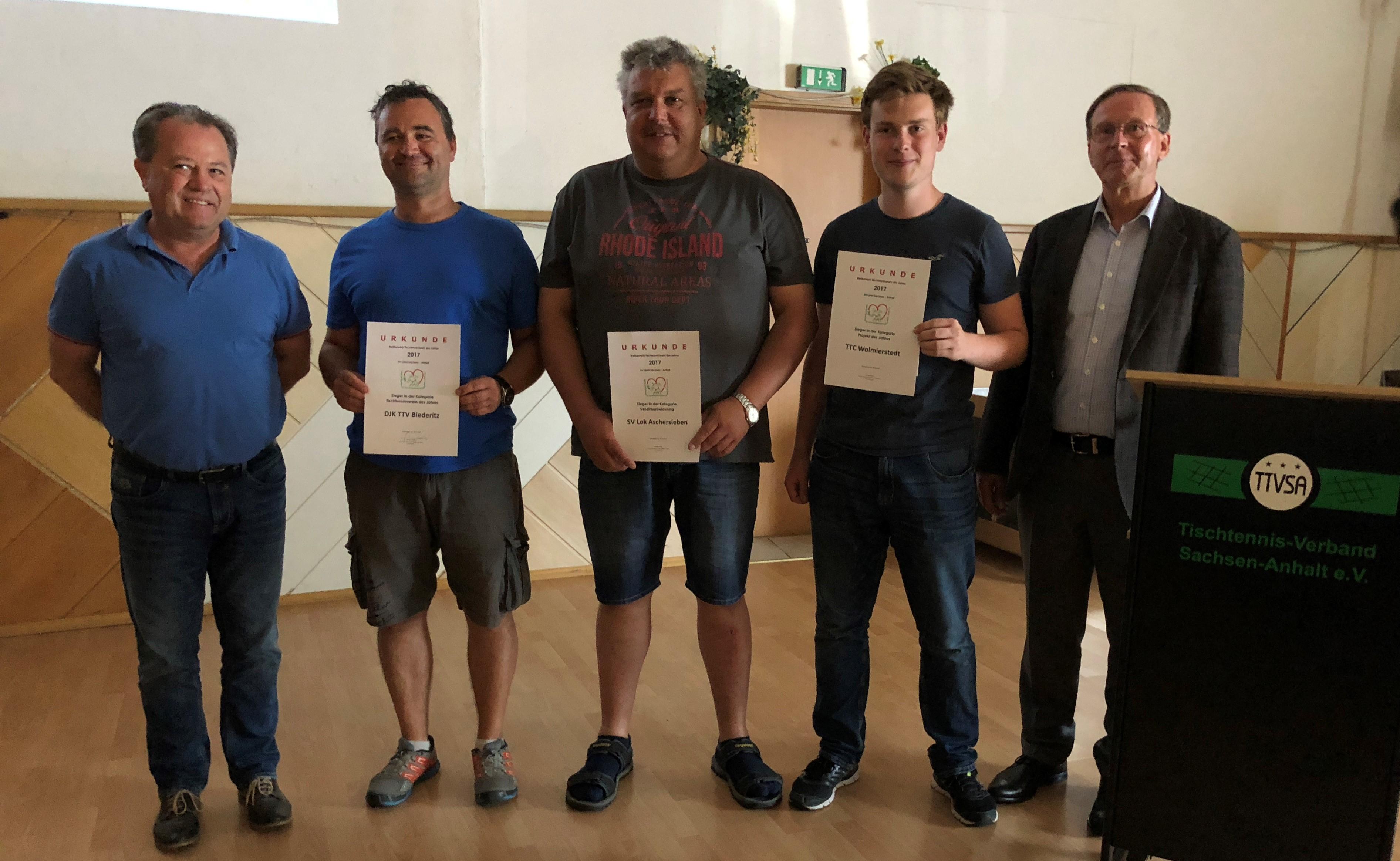 DJK TTV Biederitz wird Verein des Jahres 2017