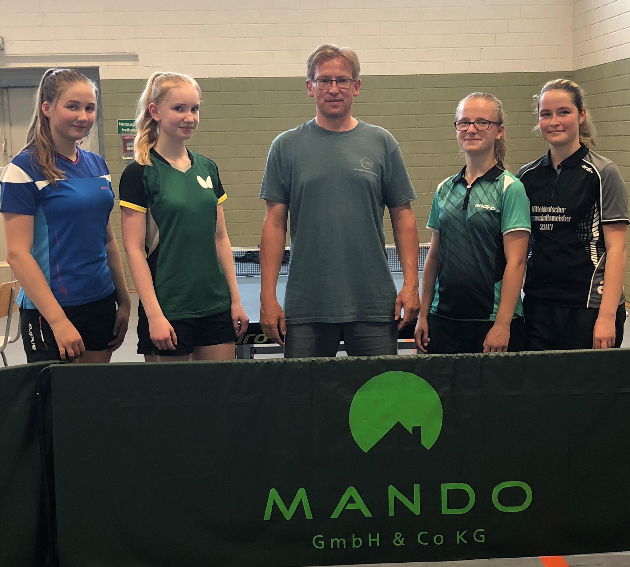 Firma MANDO unterstützt Nachwuchsarbeit bei der DJK TTV Biederitz ! Vielen Dank !