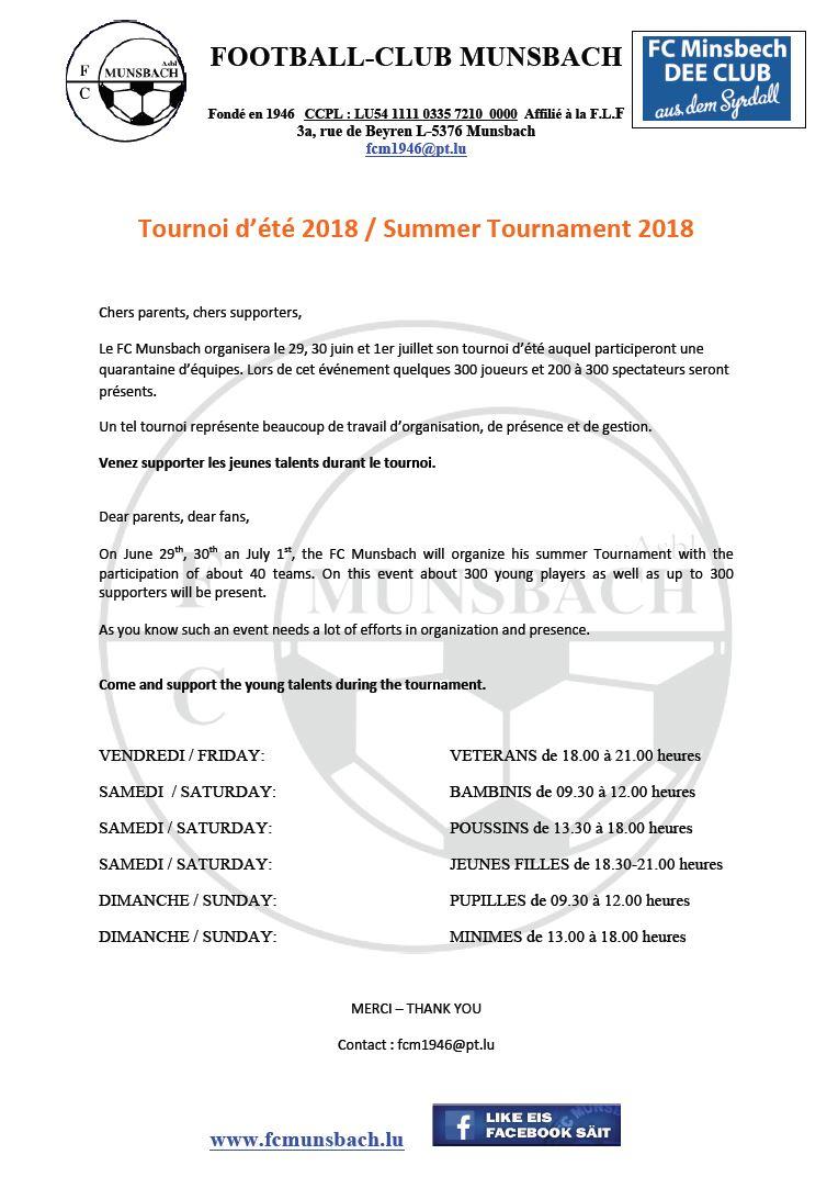 TOURNOI ETE 2018