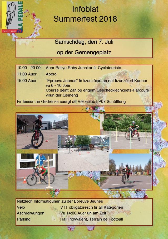 Summerfest a Parcours d'Adresse fir Jeunes