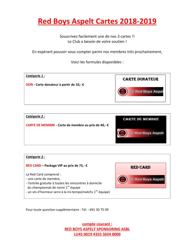 MEMBERSKAART + Red-Card