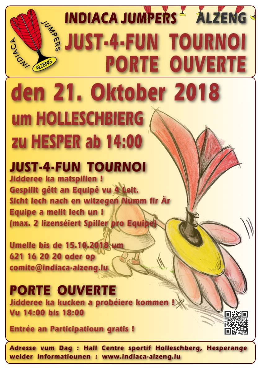 Just 4 Fun Tournoi an Porte ouverte