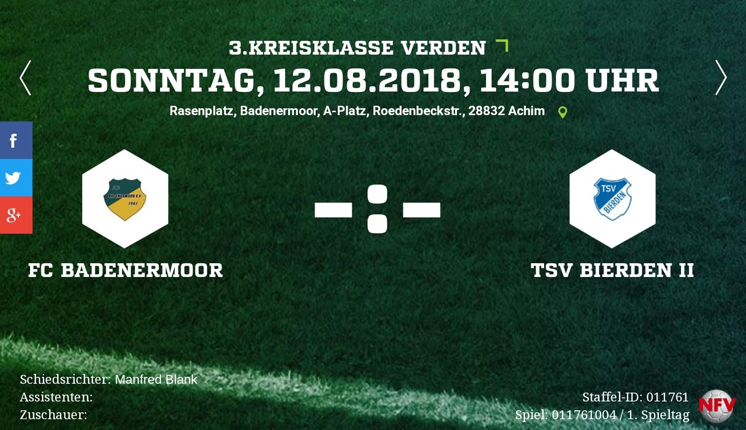 Saisonauftakt gegen die TSV Bierden 2
