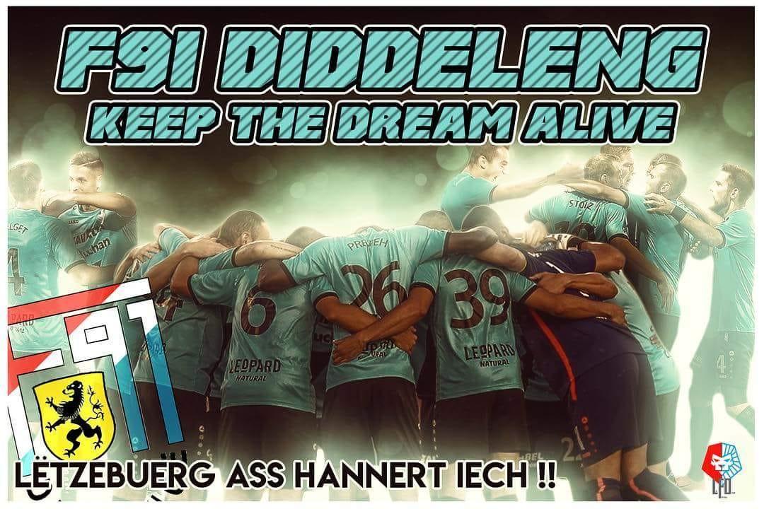 Le CS Fola Esch souhaite bonne chance au F91 pour le match de ce soir