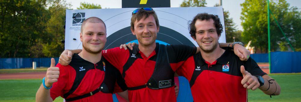 Bronzemedaille fir Recurve Equipe ob der EM zu Legnica an Polen