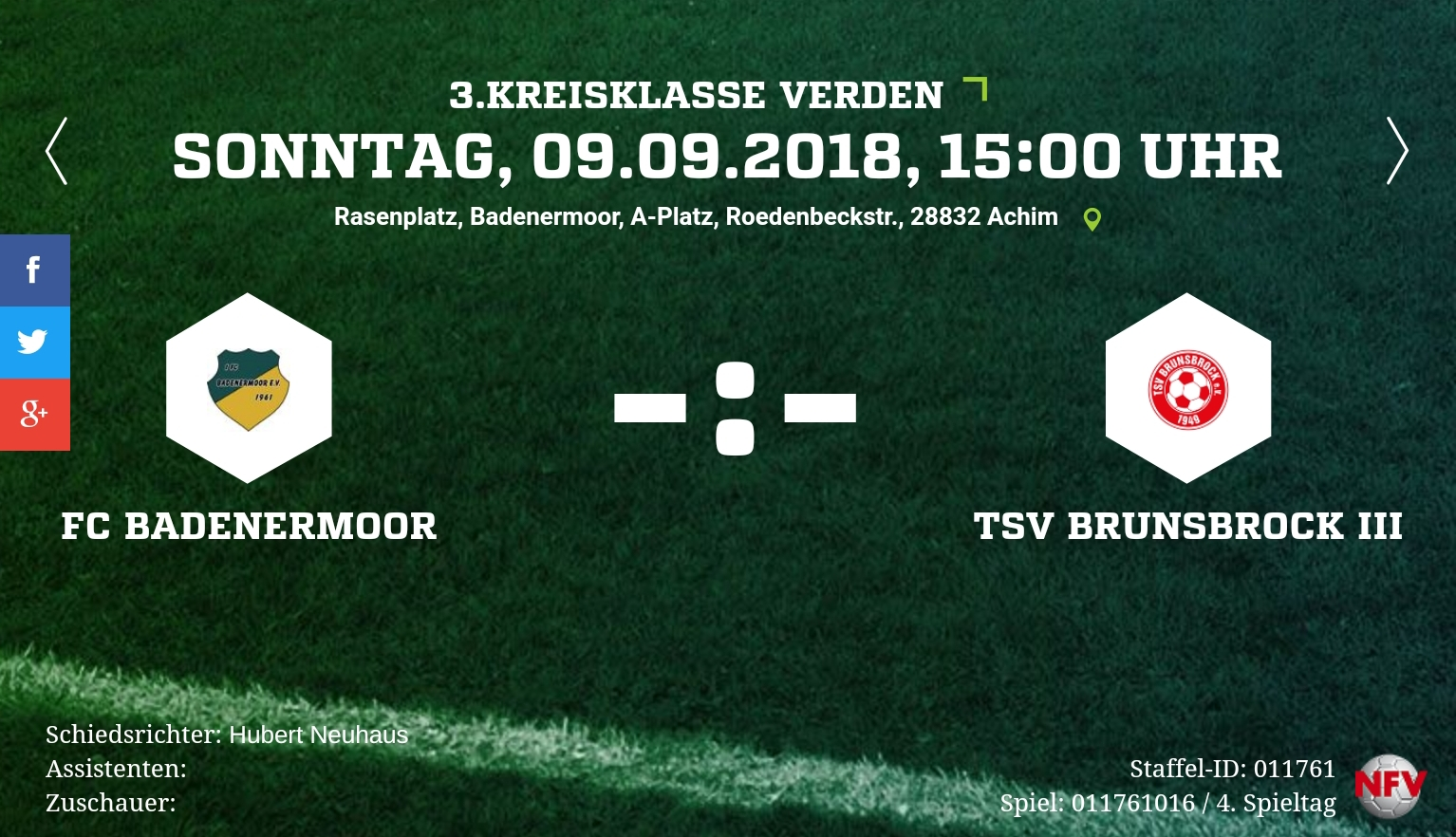 Heimspiel gegen Brunsbrock 3