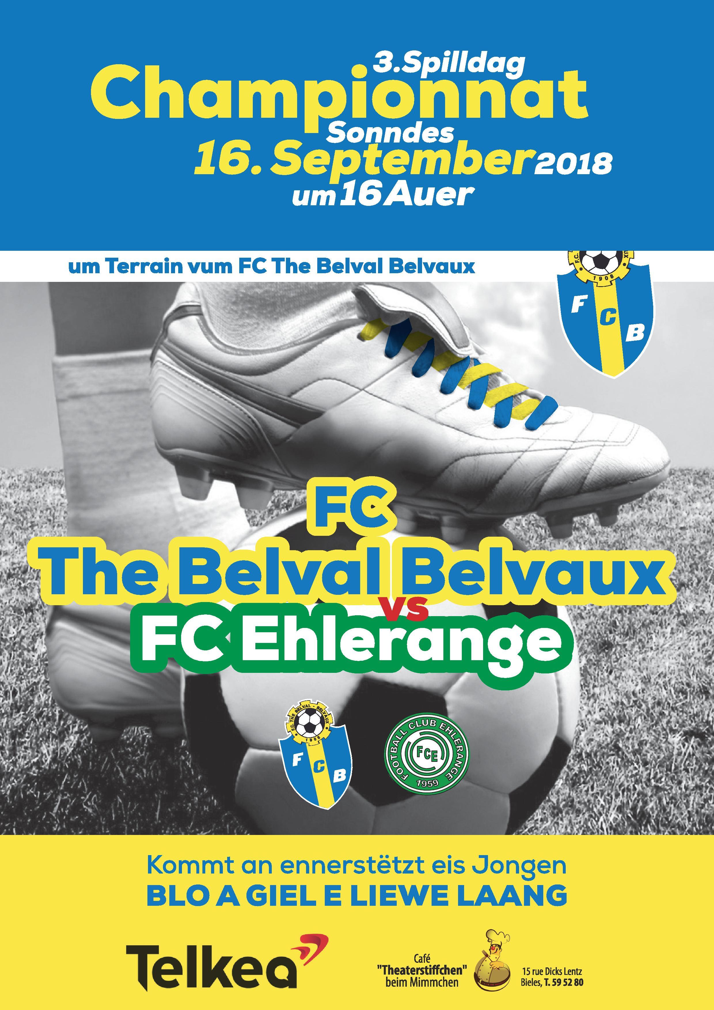 FC The Belval Belvaux vs FC Ehlerange (16.09.18 16h00)