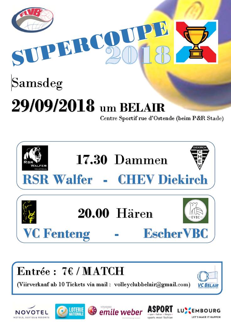 SUPERCOUPE 2018 VC Fenteng vs Escher VCB le 29/09/2018 à Belair