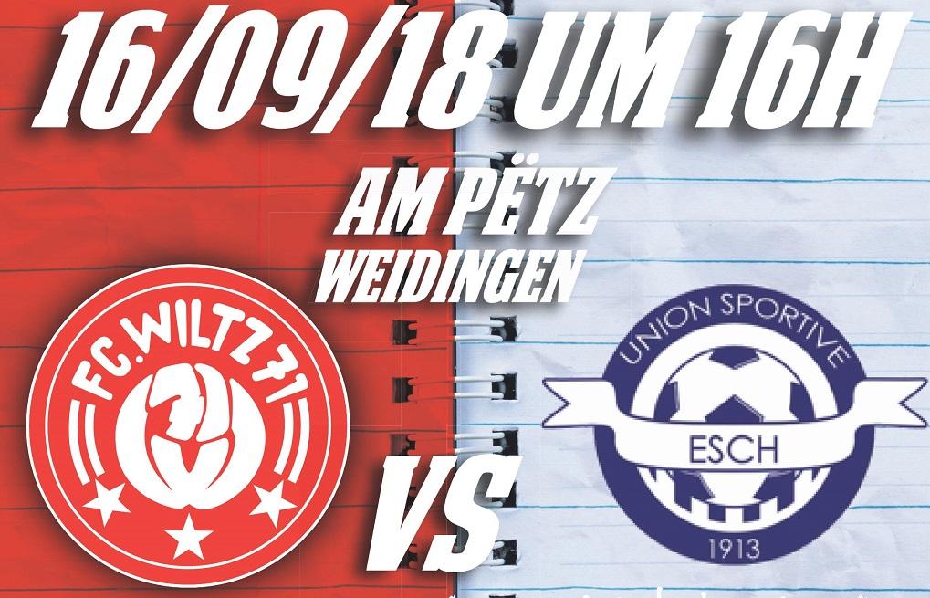 FC Wooltz 71 vs US Esch