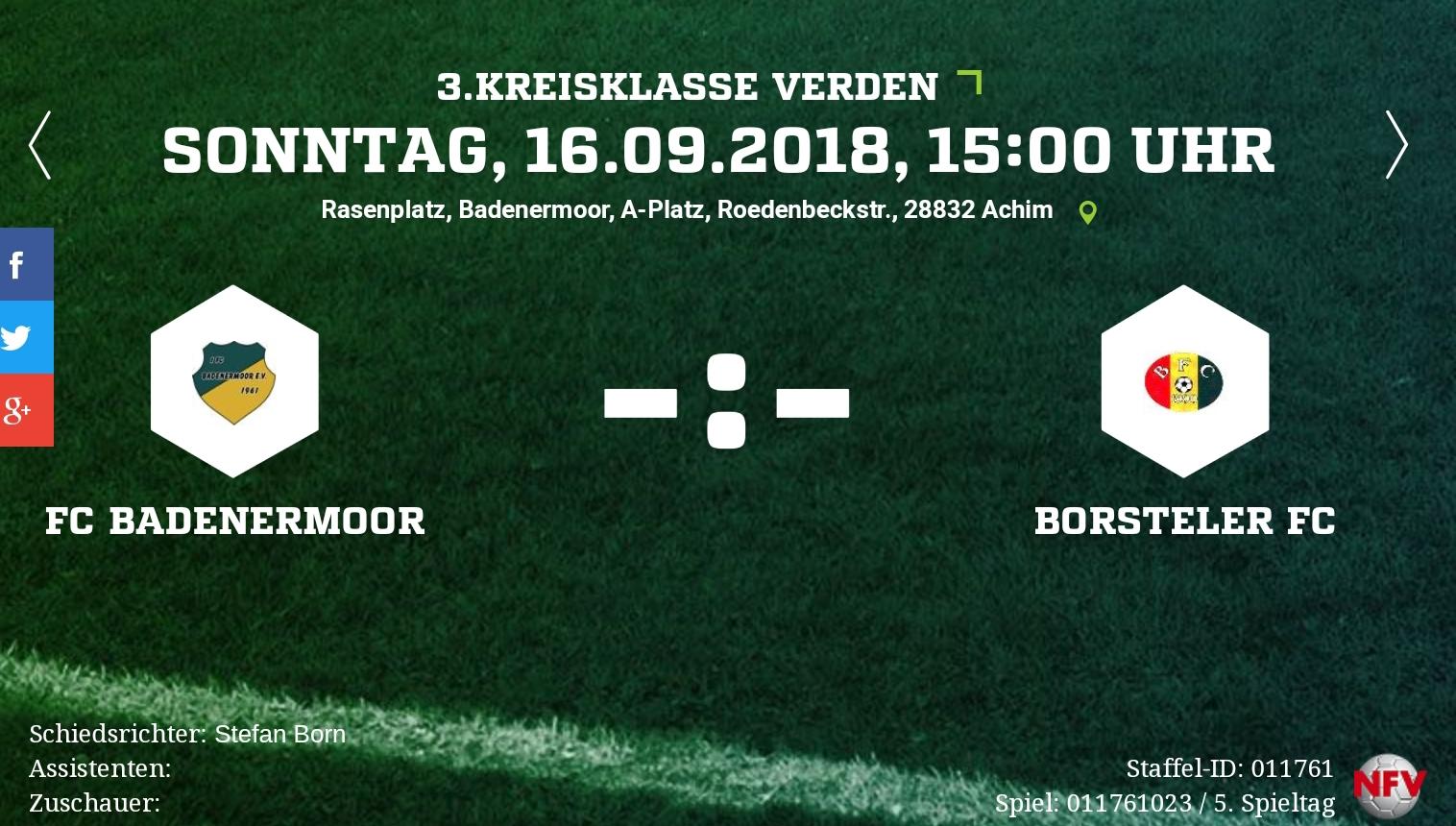 Heimspiel gegen den Borsteler FC
