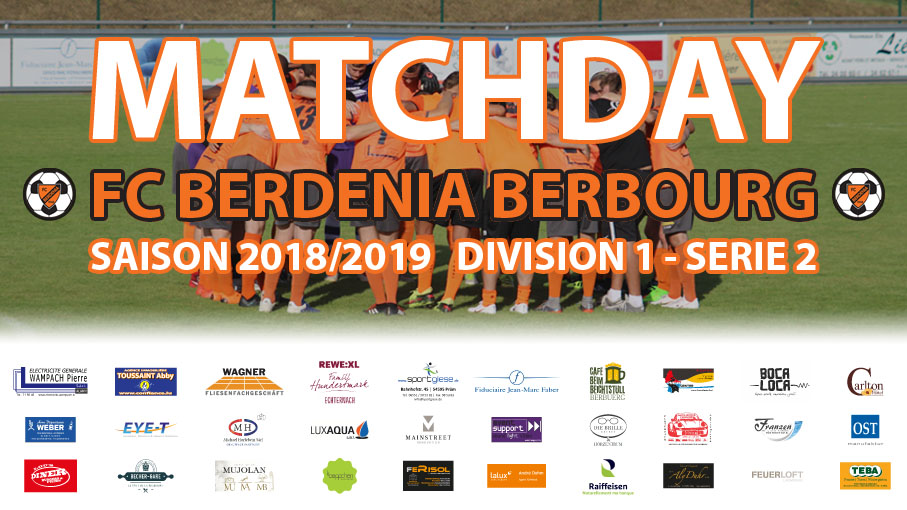 Matchday: FC Berdenia Berbourg - FC Syra Mensdorf