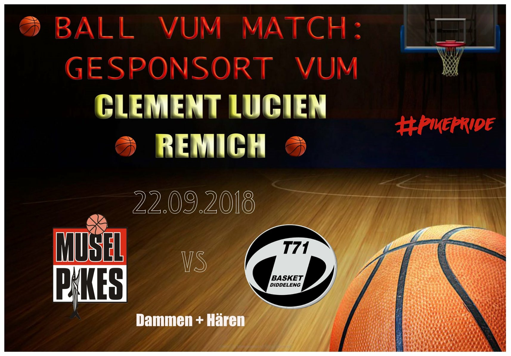 BALL VUM MATCH = CLEMENT LUCIEN
